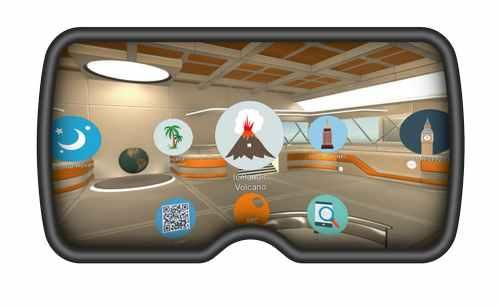 Интерфейс виртуальной реальности, созданный для образовательных целей